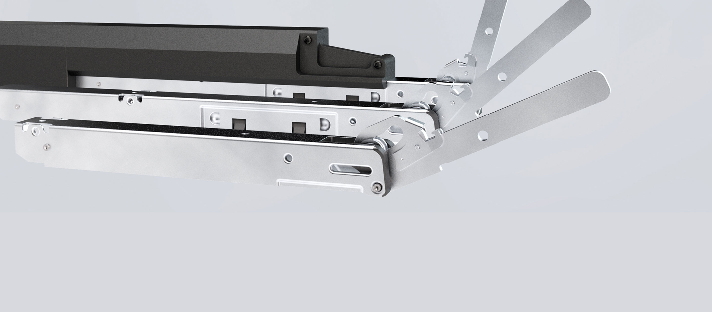 Products Hinges and extendable rails